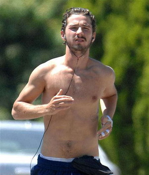 Shia LaBeouf is buff